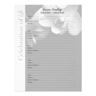 Orquídea 1 - Páginas de encargo del llenador del Membrete A Diseño