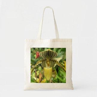 Orquídea amarilla con amarillo y el tote de las ra bolsa tela barata