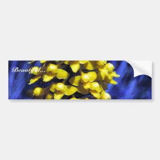 Orquídea amarilla de Fringeless Pegatina Para Auto