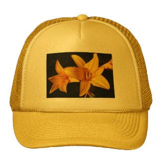 Orquídea amarilla gorras