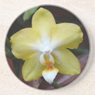 Orquídea amarilla preciosa posavasos manualidades