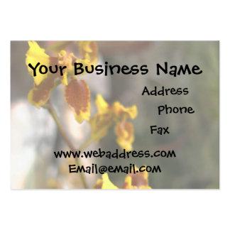 Orquídea amarilla tarjeta de negocio