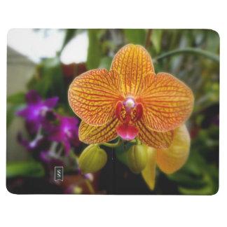 Orquídea anaranjada cuadernos grapados