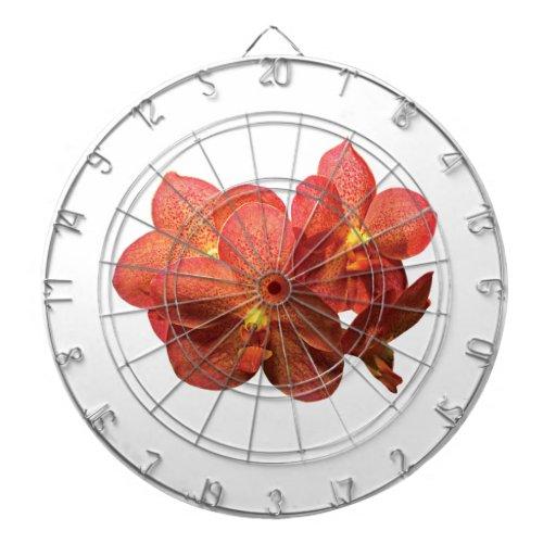 Orquídea anaranjada manchada tabla dardos