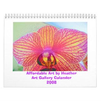 orquídea, arte asequible por la galería Ca de Heat Calendarios De Pared