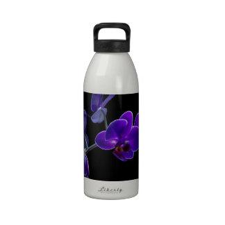 Orquídea azul botellas de agua reutilizables