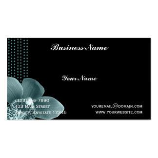Orquídea azul en tarjeta de visita negra