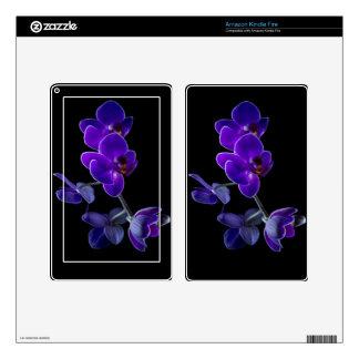 Orquídea azul kindle fire skins