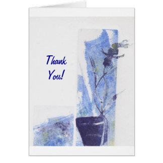 Orquídea azul púrpura tarjeta de felicitación