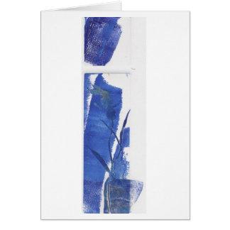 Orquídea azul tarjeta de felicitación