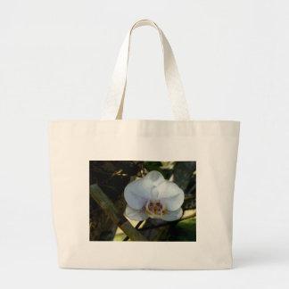 Orquídea blanca bolsa lienzo