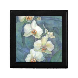 Orquídea blanca caja de joyas