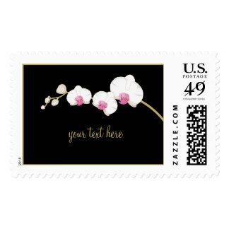 Orquídea blanca de PixDezines/franqueo adaptable Sello Postal