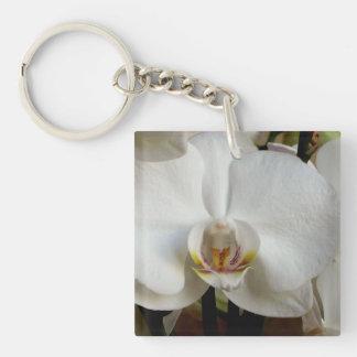 Orquídea blanca llavero