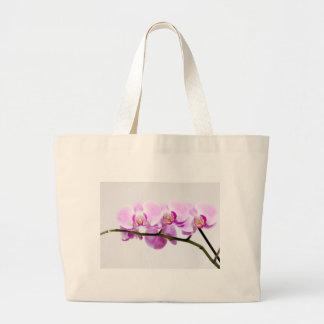 orquídea bolsa tela grande