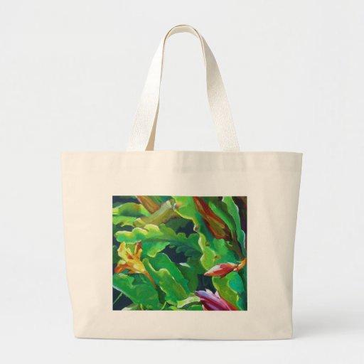 Orquídea cactus4 bolsa tela grande