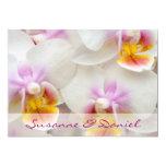 """Orquídea • Carga de su de boda Invitación 5"""" X 7"""""""