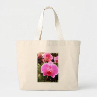 Orquídea coloreada rosa del Phalaenopsis Bolsa Tela Grande