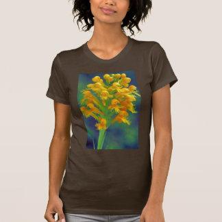 Orquídea con cresta amarilla camisetas