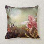 Orquídea con la almohada de dos colibríes