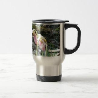 Orquídea de deslizador de señora rosada taza térmica