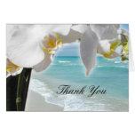 Orquídea de la playa de la aguamarina felicitacion