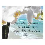 Orquídea de la playa de la aguamarina tarjeton