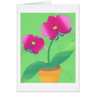 Orquídea de la primavera felicitacion