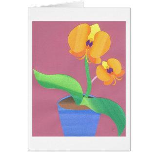 Orquídea de la salida del sol tarjetas