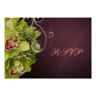 Orquídea de PixDezines RSVP + Flourish ornamental Comunicado Personalizado