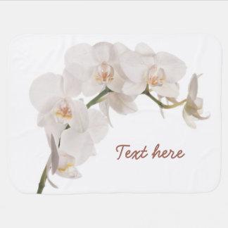 Orquídea de polilla blanca manta de bebé