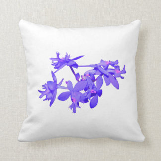 Orquídea de tierra teñida azul de las flores cojín