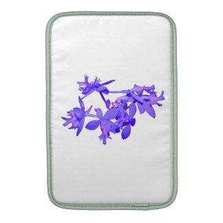 Orquídea de tierra teñida azul de las flores funda macbook air