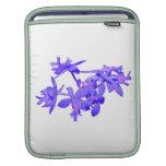 Orquídea de tierra teñida azul de las flores mangas de iPad