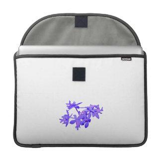 Orquídea de tierra teñida azul de las flores fundas para macbooks