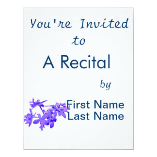 """Orquídea de tierra teñida azul de las flores invitación 4.25"""" x 5.5"""""""