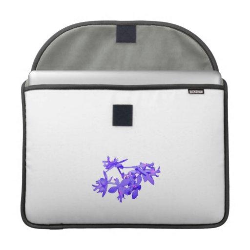 Orquídea de tierra teñida azul de las flores fundas para macbook pro