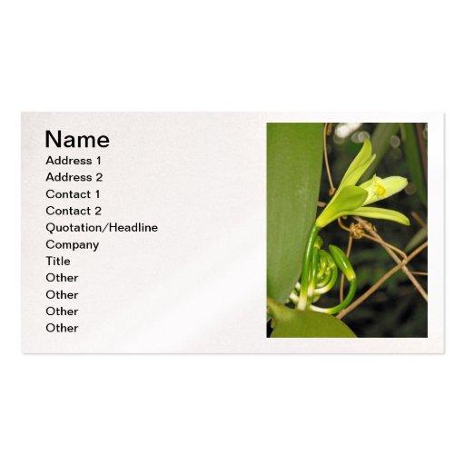 Orquídea de vainilla tarjetas de visita