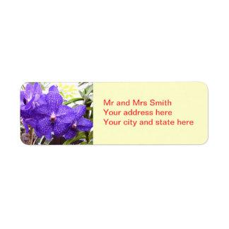 Orquídea de Vanda Pachara Etiquetas De Remite