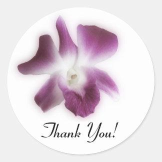 ¡Orquídea del ciruelo, gracias! Pegatina Redonda