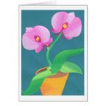 Orquídea del claro de luna tarjeton