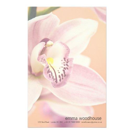 Orquídea del Cymbidium Papeleria De Diseño