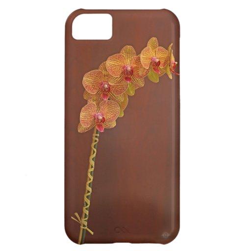 Orquídea del melocotón funda para iPhone 5C