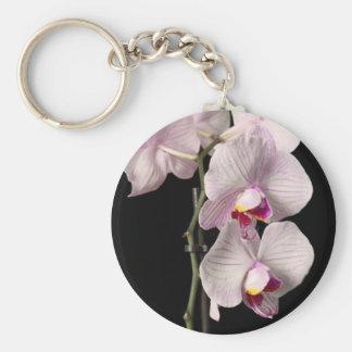 Orquídea del Phalaenopsis Llavero Redondo Tipo Pin