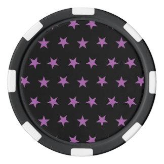Orquídea del radiante de las estrellas 8 juego de fichas de póquer