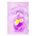 Orquídea del rosa en colores pastel papelería de diseño