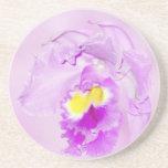 Orquídea del rosa en colores pastel posavasos manualidades