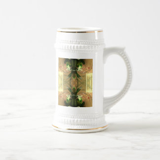 Orquídea doble taza de café