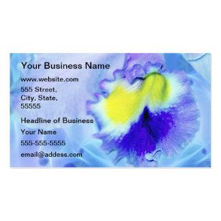 Orquídea en colores pastel azul plantillas de tarjetas personales