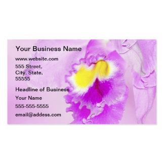 Orquídea en colores pastel rosada tarjetas de visita